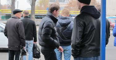 Back to black. Autumn in Ukraine = dark jackets