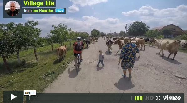 Video: when cycling in Ukraine…