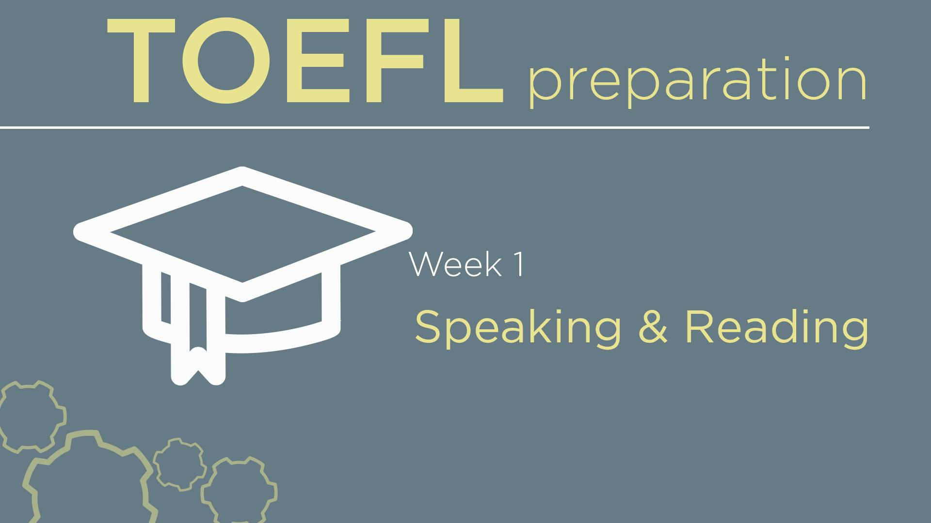 TOEFL preparation with Nick. October 10