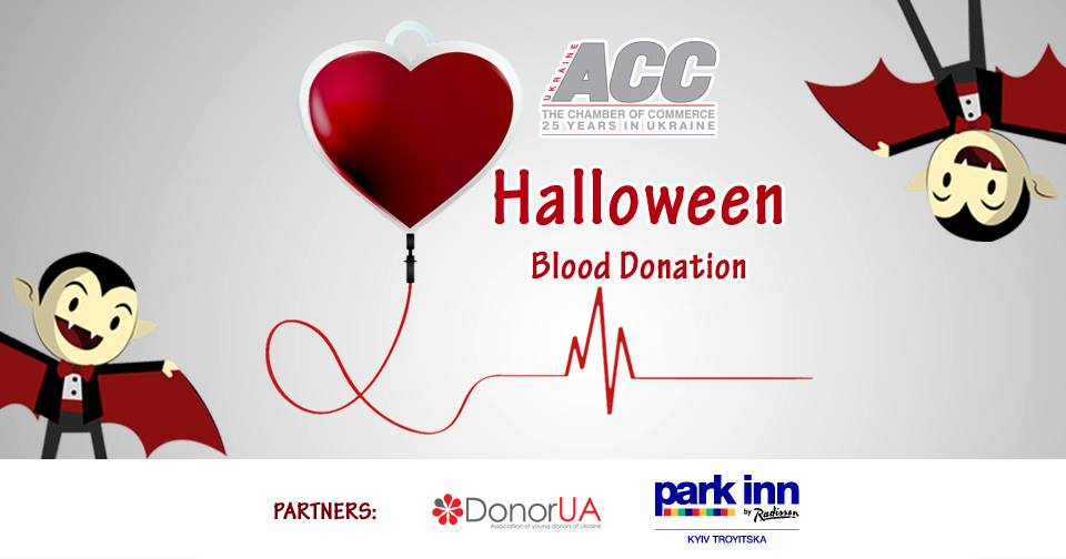 American Chamber Halloween Blood Donation. October 30