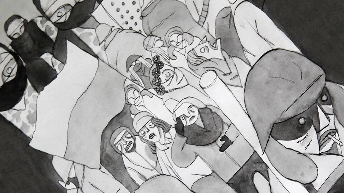 Sketches of Maidan: Making Journalistic Comics. November 2