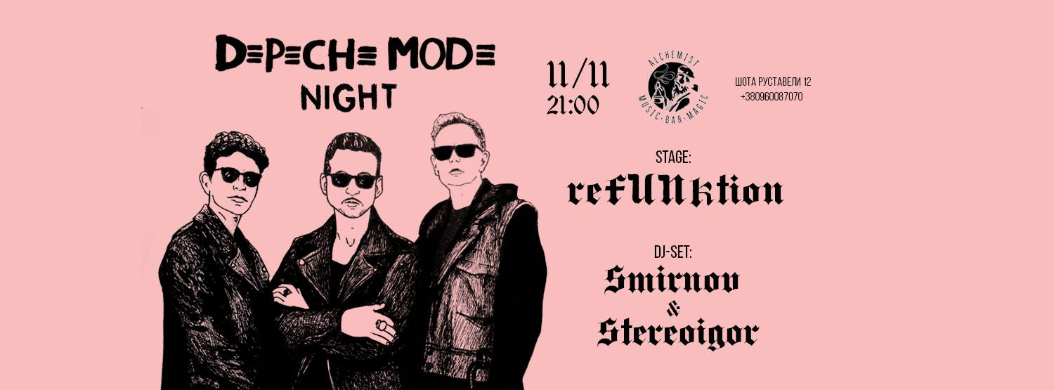 Depeche Mode Night @Alchemist Bar! November 11