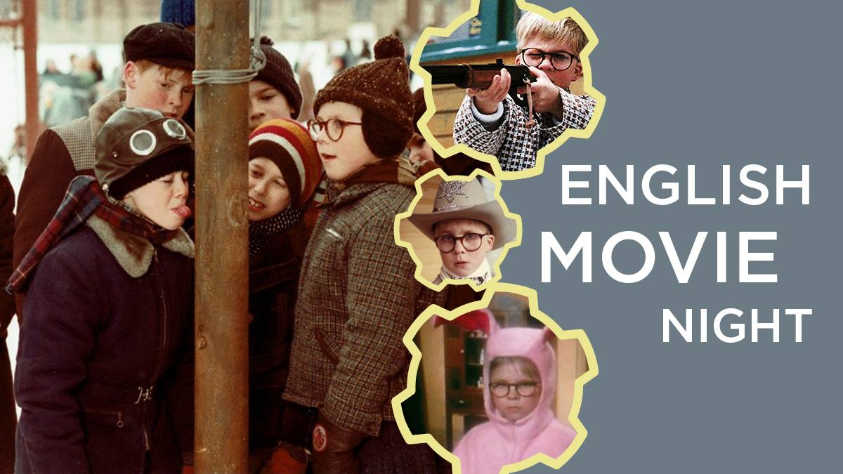 English Movie Night: A Christmas Story. December 22